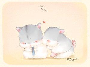 Rating: Safe Score: 52 Tags: animal apron blush heart kiss nobody original signed tie yutaka_kana User: otaku_emmy