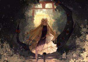 Rating: Safe Score: 107 Tags: blonde_hair brown_eyes dress forest hat long_hair thkani touhou tree umbrella yakumo_yukari User: mattiasc02