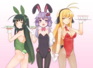 Rating: Safe Score: 63 Tags: breasts bunny_ears bunnygirl cleavage gloves kuroshiro_gurei touhoku_zunko tsurumaki_maki vocaloid voiceroid wink wristwear yuzuki_yukari User: FormX