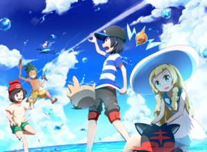 Rating: Safe Score: 46 Tags: group hau_(pokemon) lillie_(pokemon) litten male mizuki_(pokemon) pokemon popplio rotom rowlet shirogane_yu you_(pokemon) User: mattiasc02