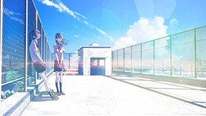 Rating: Safe Score: 38 Tags: 2girls black_hair bow building clouds kneehighs original rooftop school_uniform shinobu_(kobanatu) short_hair skirt sky User: RyuZU