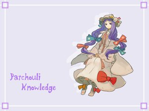 Rating: Safe Score: 8 Tags: hat long_hair patchouli_knowledge purple_eyes purple_hair ribbons touhou User: Eruku