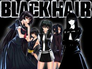 Rating: Safe Score: 206 Tags: black_hair black_lagoon bleach crossover d.gray-man dress fang gray_eyes hagoromo_kitsune kaibutsu_oujo kamura_reiri kazuhiro_shimazu kousaka_shigure lenalee_lee long_hair nopan nurarihyon_no_mago parody ponytail red_eyes school_uniform shijou_saikyou_no_deshi_kenichi short_hair soifon tie User: Wiresetc