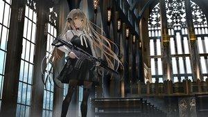Rating: Safe Score: 94 Tags: brown_eyes brown_hair dress gothic gun long_hair original pantyhose swav weapon User: BattlequeenYume