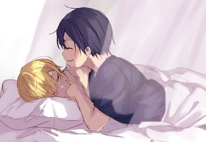 Rating: Safe Score: 14 Tags: all_male bed black_hair blonde_hair eugeo kirigaya_kazuto male noro_(ro_no) shirt short_hair shounen_ai sketch sleeping sword_art_online User: mattiasc02