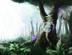 Rating: Safe Score: 64 Tags: animal bird forest green_hair original pointed_ears red_eyes tagme tree twintails un User: Zolxys