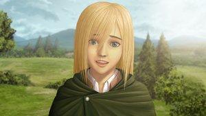 Rating: Safe Score: 28 Tags: 3d blonde_hair blue_eyes christa_renz clouds grass robintheart shingeki_no_kyojin sky tree User: Freenight