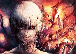 Rating: Safe Score: 118 Tags: all_male bicolored_eyes kaneki_ken male miyukin_(okura_miyuki) tokyo_ghoul User: FormX