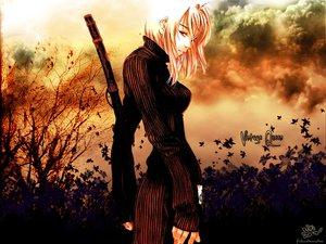 Rating: Safe Score: 80 Tags: katana natsume_maya orange sword tenjou_tenge weapon User: Cacha