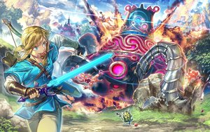 Rating: Safe Score: 41 Tags: aliasing all_male apple aqua_eyes blonde_hair bokoblin bow_(weapon) clouds fire food fruit korok link_(zelda) long_hair male pointed_ears ponytail robot sky sword the_legend_of_zelda tree weapon zounose User: otaku_emmy