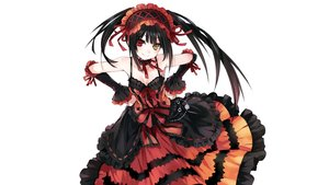 Rating: Safe Score: 798 Tags: bicolored_eyes black_hair bow breasts choker cleavage date_a_live dress headdress long_hair photoshop tokisaki_kurumi tsunako twintails white User: Dummy