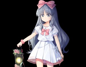 Rating: Safe Score: 24 Tags: black bow cropped flowers gray_eyes gray_hair headband loli long_hair original ribbons rose school_uniform skirt transistor wristwear User: otaku_emmy