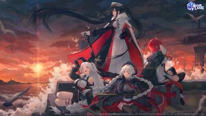 Rating: Safe Score: 54 Tags: animal anthropomorphism azur_lane bibimbub bird black_hair cape clouds elbow_gloves gloves gray_hair group hat horns logo long_hair nurnberg_(azur_lane) peter_strasser_(azur_lane) prinz_heinrich_(azur_lane) red_hair short_hair sky thighhighs twintails uniform water weser_(azur_lane) User: Nepcoheart