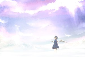 Rating: Safe Score: 36 Tags: blue_hair cirno clouds lefthand touhou wings User: HawthorneKitty