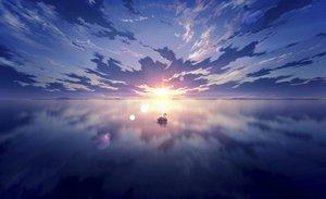 Rating: Safe Score: 44 Tags: animal bird clouds kijineko original reflection scenic sky sunset water User: mattiasc02