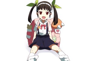 Rating: Safe Score: 26 Tags: bakemonogatari bow brown_eyes brown_hair fang hachikuji_mayoi headband loli monogatari_(series) seifuku servachok skirt socks twintails white User: RyuZU