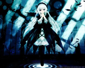 Rating: Safe Score: 30 Tags: doll gothic rozen_maiden signed suigintou white_hair wings User: Oyashiro-sama