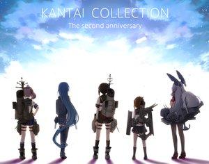 Rating: Safe Score: 95 Tags: anthropomorphism clouds engiyoshi fubuki_(kancolle) group inazuma_(kancolle) kantai_collection long_hair murakumo_(kancolle) pantyhose samidare_(kancolle) sazanami_(kancolle) school_uniform short_hair skirt sky User: Flandre93
