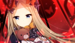 Rating: Safe Score: 62 Tags: abigail_williams_(fate/grand_order) aqua_eyes blonde_hair bow butterfly close fate/grand_order fate_(series) goth-loli hat loli lolita_fashion long_hair red tagme_(artist) teddy_bear User: BattlequeenYume