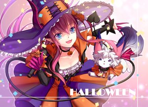 Rating: Safe Score: 89 Tags: animal aqua_eyes breasts choker cleavage cosplay dress elizabeth_bathory_(fate) fang fate/grand_order fate_(series) halloween hat horns jh long_hair microphone necklace pink_hair pointed_ears tail witch witch_hat User: otaku_emmy