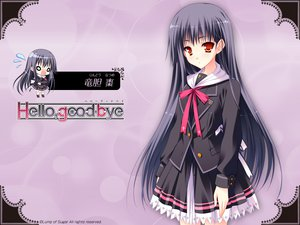 Rating: Safe Score: 38 Tags: black_hair hello_good-bye long_hair moekibara_fumitake orange_eyes rindou_natsume school_uniform User: oranganeh