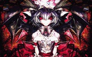 Rating: Safe Score: 76 Tags: banpai_akira red_eyes remilia_scarlet touhou vampire wings User: Wizzard
