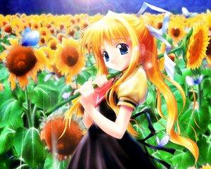 Rating: Safe Score: 3 Tags: air flowers goto_p kamio_misuzu key sunflower visualart User: Oyashiro-sama