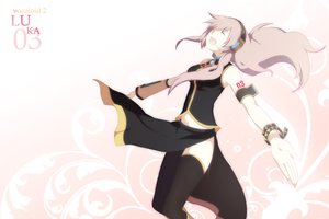 Rating: Safe Score: 57 Tags: harano headphones long_hair megurine_luka pink_hair thighhighs vocaloid User: korokun