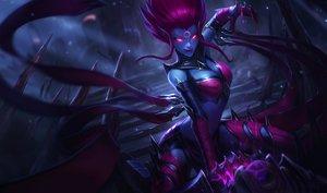 Rating: Safe Score: 159 Tags: dark evelynn goomrrat league_of_legends purple_hair User: ssagwp