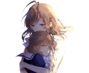 Rating: Safe Score: 172 Tags: 2girls blue_eyes brown_hair chunnkoromochi clannad furukawa_nagisa hug loli okazaki_ushio short_hair User: mattiasc02