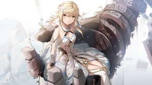 Rating: Safe Score: 54 Tags: biittertaste blonde_hair brown_eyes dress genshin_impact gloves lumine_(genshin_impact) watermark User: BattlequeenYume
