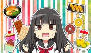 Rating: Safe Score: 12 Tags: black_hair brown_eyes cake candy chijou_noko chikanoko chocolate close food long_hair ragho_no_erika school_uniform tears User: RyuZU