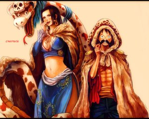 Rating: Safe Score: 97 Tags: boa_hancock monkey_d_luffy one_piece tsuyomaru User: FormX