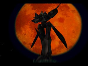 Rating: Safe Score: 15 Tags: armor hat mecha night planet robot space xenogears User: Oyashiro-sama