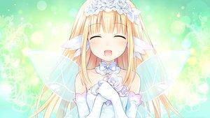 Rating: Safe Score: 50 Tags: blonde_hair bouquet_(hyperdimension_neptunia) choker dress elbow_gloves flowers four_goddesses_online:_cyber_dimension_neptune gloves green headdress hyperdimension_neptunia long_hair tsunako wings User: Dummy
