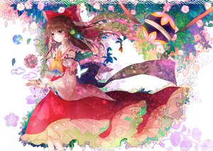 Rating: Safe Score: 93 Tags: animal brown_hair butterfly fish flowers hakurei_reimu kazu_(muchuukai) leaves purple_eyes touhou User: FormX