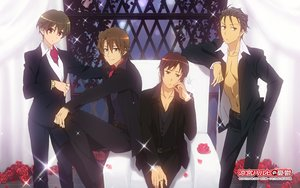Rating: Safe Score: 15 Tags: all_male brown_eyes brown_hair flowers group koizumi_itsuki kunikida kyon male necklace open_shirt petals rose short_hair suzumiya_haruhi_no_yuutsu tagme_(artist) taniguchi watermark User: RyuZU