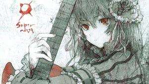Rating: Safe Score: 175 Tags: fuyuno_haruaki guitar instrument lolita_fashion red_eyes User: Brynhild