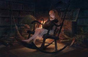 Rating: Safe Score: 102 Tags: animal barefoot book cat dress fire headband long_hair orange_hair original you_(shimizu) User: Flandre93