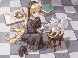 Rating: Safe Score: 72 Tags: blonde_hair book cat_smile crossover gosick goth-loli green_eyes kyuubee lolita_fashion long_hair mahou_shoujo_madoka_magica victorique_de_broix yoshikawa_kazunori User: opai