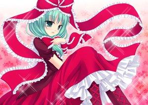 Rating: Safe Score: 45 Tags: bow dress green_hair kagiyama_hina shimotsuki_keisuke touhou User: opai