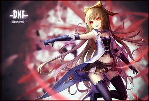Rating: Safe Score: 133 Tags: blonde_hair bow dungeon_and_fighter elbow_gloves gloves hc long_hair red_eyes signed skirt tagme_(character) thighhighs User: Flandre93