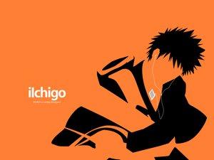 Rating: Safe Score: 9 Tags: all_male bleach ipod kurosaki_ichigo male orange parody polychromatic silhouette User: Oyashiro-sama