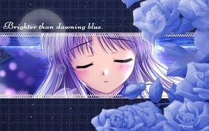 Rating: Safe Score: 6 Tags: blush feena_fam_earthlight flowers long_hair purple_hair water yoake_mae_yori_ruri_iro_na User: pantu