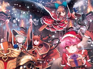 Rating: Safe Score: 53 Tags: animal animal_ears bird bow braids brown_hair candy catgirl christmas dress fang fire green_hair group halo hat hijiwryyyyy kaenbyou_rin komeiji_koishi komeiji_satori long_hair necklace orange_eyes pink_hair ponytail red_eyes red_hair reindeer reiuji_utsuho santa_costume santa_hat short_hair snow tail touhou wings wink zombie_fairy User: RyuZU