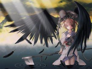 Rating: Safe Score: 81 Tags: onozuka_komachi scythe touhou water weapon wings User: Oyashiro-sama