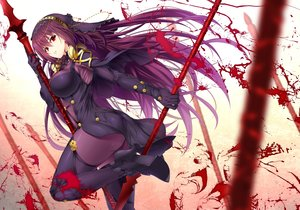 Rating: Safe Score: 74 Tags: armor ass blood bodysuit breasts emanon123 fate/grand_order fate_(series) headdress long_hair purple_hair red_eyes scathach_(fate/grand_order) spear weapon User: BattlequeenYume