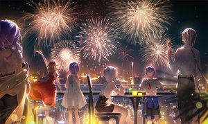Rating: Safe Score: 46 Tags: braids building choker city drink fireworks group long_hair luo_tianyi male mo_qingxian necklace night shirt short_hair stars tidsean vocaloid vocaloid_china yan_he yuezheng_ling yuezheng_longya zhiyu_moke User: mattiasc02