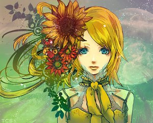 Rating: Safe Score: 26 Tags: aqua_eyes blonde_hair bow flowers kagamine_rin tagme vocaloid User: Tensa