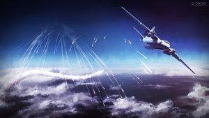 Rating: Safe Score: 92 Tags: aircraft clouds nobody original scenic sky yu-kun User: Flandre93